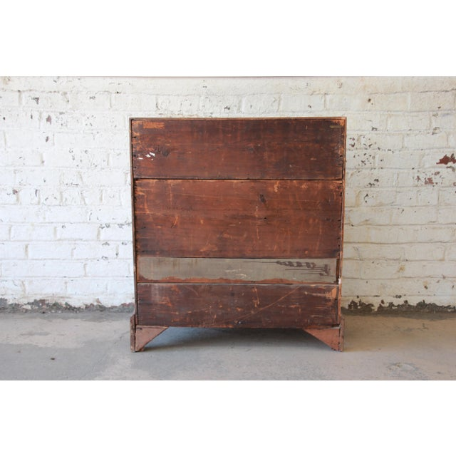 18th Century Early American Chippendale Cherry Wood Drop-Front Secretary Desk For Sale - Image 12 of 13
