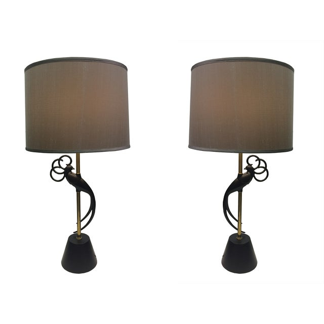 Peacock Table Lamps by Rembrandt - A Pair For Sale