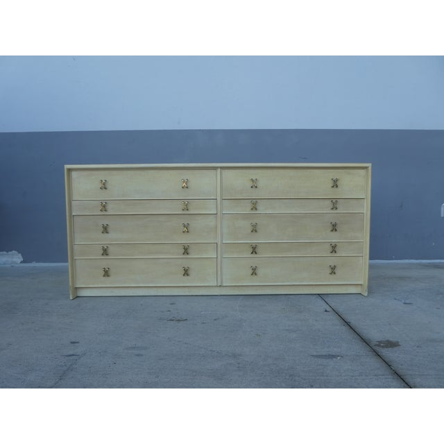 1950s Mid-Century Modern Johnson Furniture Paul Frankl Long Chest/Credenza For Sale - Image 13 of 13