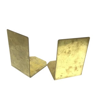 Solid Brass Slab Bookends