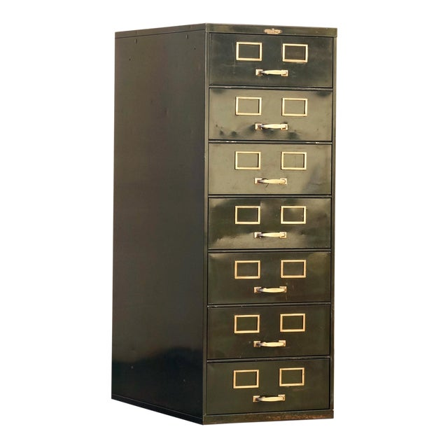 1930s Multi Drawer Card Filing Cabinet by Remington Rand For Sale