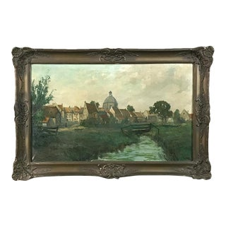 Antique Framed Oil Painting on Canvas by Lauwers For Sale