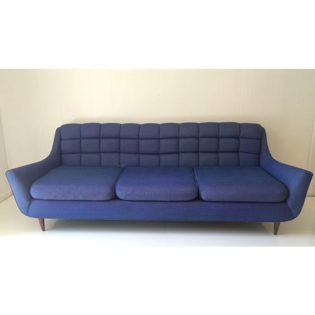 Mid-Century Blue Sofa by Stratford - Image 6 of 6
