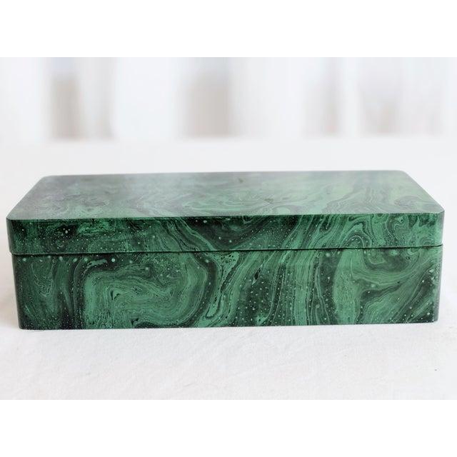 Faux Malachite Trinket Box For Sale In Saint Louis - Image 6 of 10