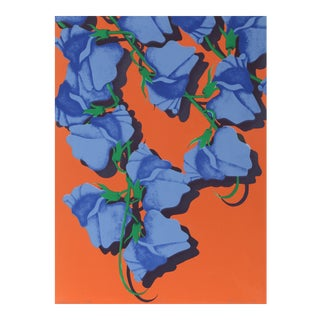 """Summer (Blue Corsage)"", Floral Print by Melanie Greene For Sale"