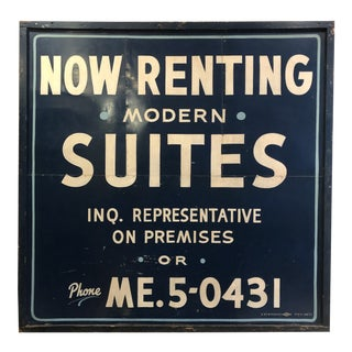 Vintage Oversized Hand Painted Sign For Sale