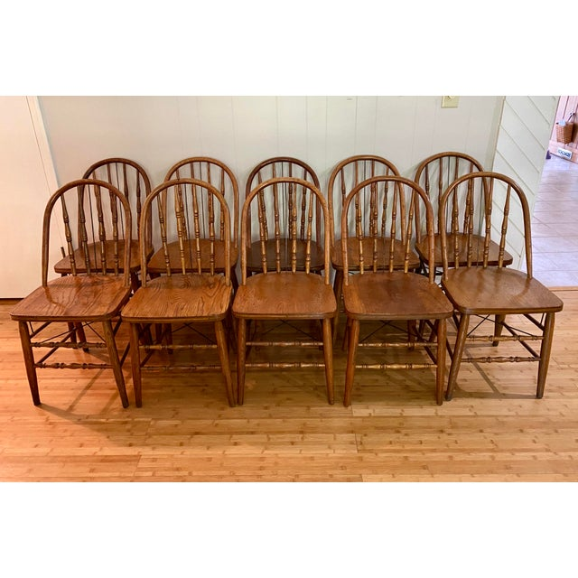 Antique Bow Back Windsor Chairs - Set of 10 For Sale - Image 11 of 12