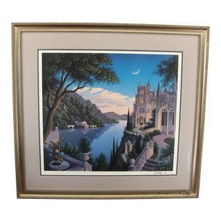 'Cheshire Moon' Fantasy Art Print For Sale