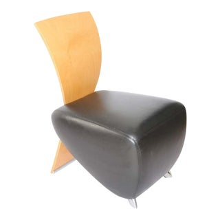 Postmodern Leather BOBO Easy Chair by Dietmar Sharping For Sale