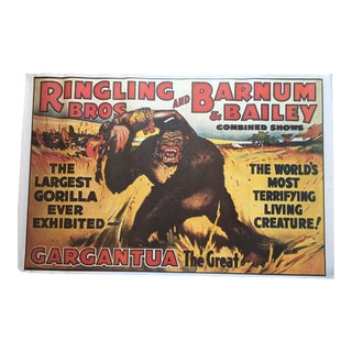 King Kong - Ringling Bros and Barnum & Bailey Combined Shows C1978 Poster For Sale