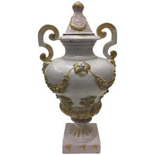 1960s Italian Ceramic Lidded Urn For Sale