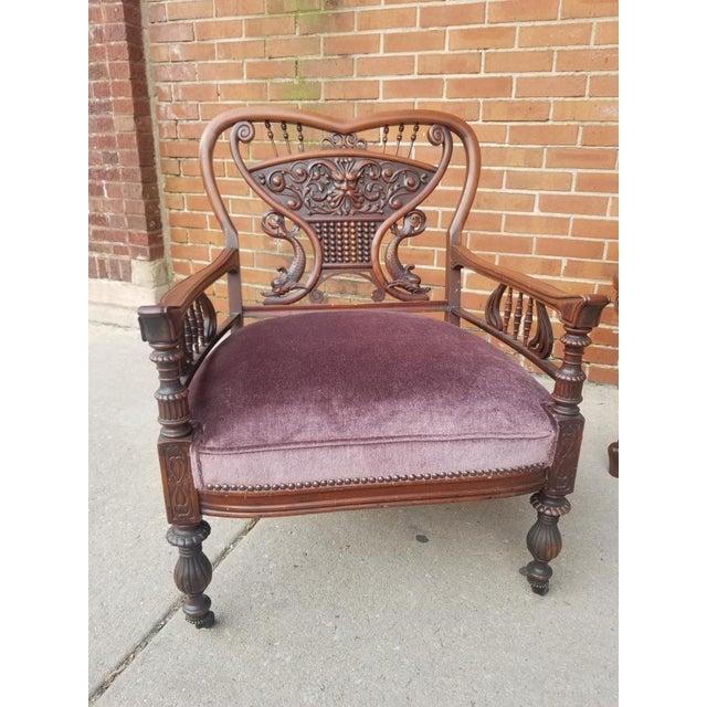 1900s Antique Victorian Armchair Bench Chairish