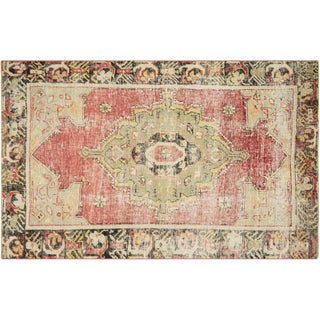 "Nalbandian - 1960s Turkish Oushak Rug - 3'10"" X 6'2"" For Sale"