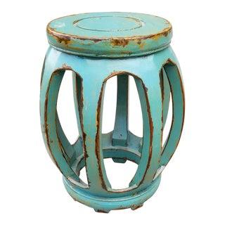 Vintage Wood Painted Garden Stool