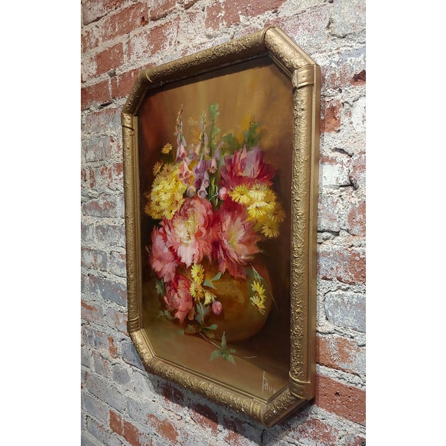 Florine Hyer - Beautiful Still Life of Flowers - Oil Painting -C1900 For Sale In Los Angeles - Image 6 of 9
