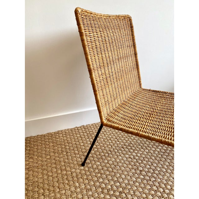 Mid-Century Modern Vintage Mid-Century Modern Rattan Side Chair For Sale - Image 3 of 5