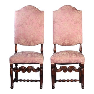 Baroque Style Carved Side Chairs - A Pair For Sale