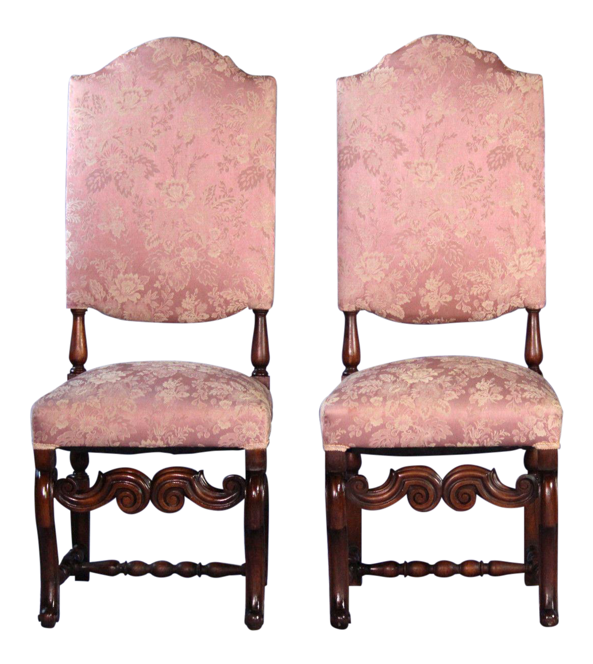 Baroque Style Carved Side Chairs   A Pair
