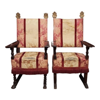 Pair of 18th Century Italian Chairs For Sale