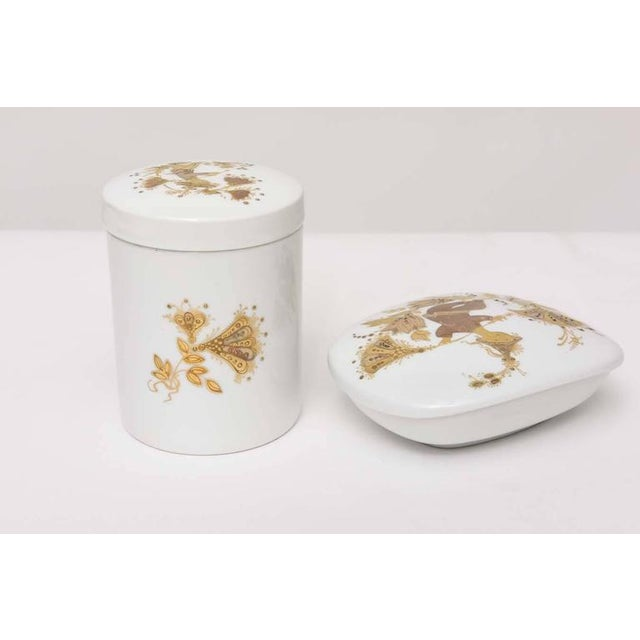 Lidded Box and Canister by Bjorn Wiinblad for Rosenthal For Sale - Image 10 of 10