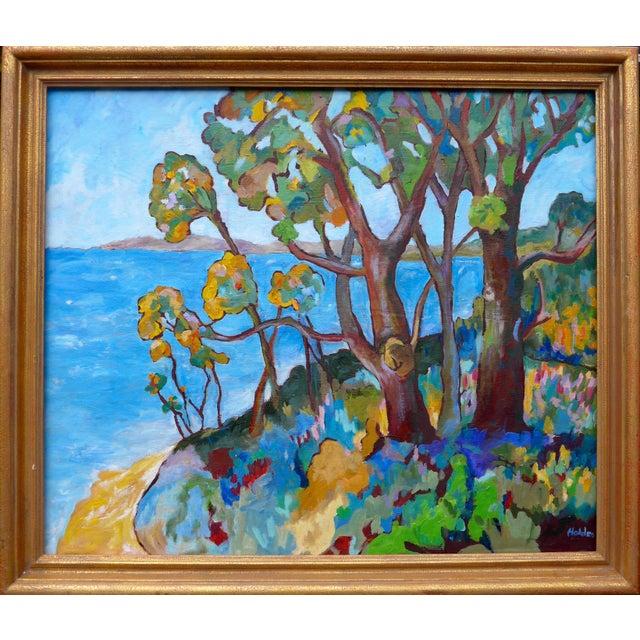 Blue Monumental - Santa Barbara Hills Oil Painting Framed For Sale - Image 8 of 8