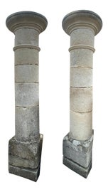 Image of Limestone Pedestals and Columns