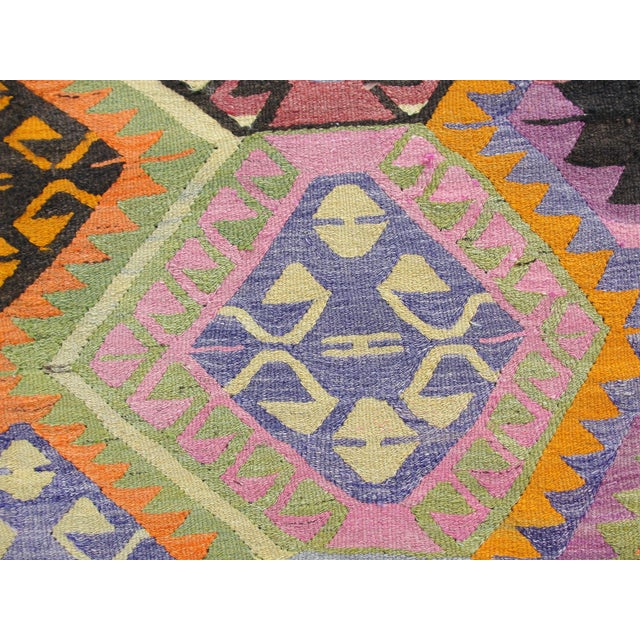 Vintage Turkish Kilim Rug - 5′5″ × 7′8″ For Sale - Image 5 of 11