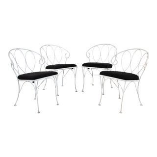 Late 20th Century Gray Dining Chairs - Set of 4 For Sale