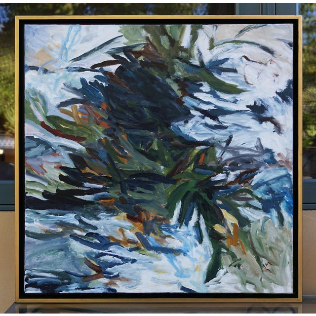 """Laurie MacMillan """"Spring Push"""" Botanical Abstract Painting, Framed For Sale In Los Angeles - Image 6 of 6"""