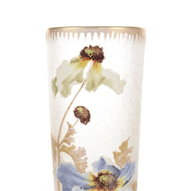 Legras Mont Joye Art Nouveau Painted Vase - Image 4 of 8