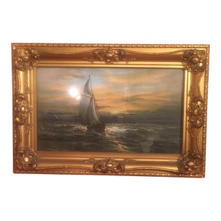 Victorian Sailboat Pastel