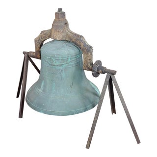Jersey City Nj 1886 Plantation Bronze Bell - F. A. William & Son Foundry For Sale