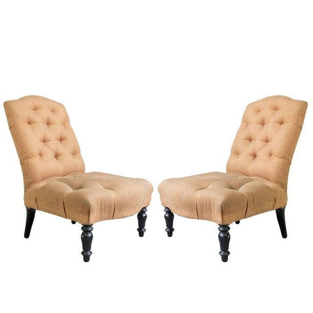 Pair of 19th Century Slipper Chairs For Sale - Image 12 of 13