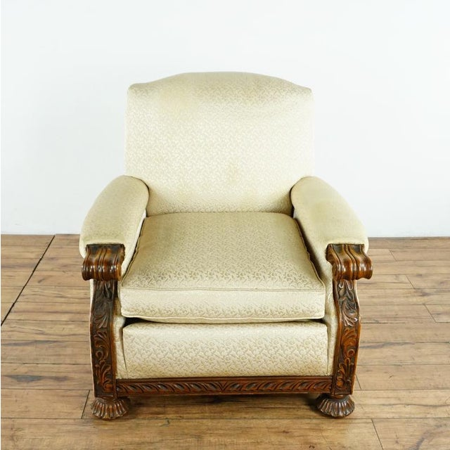 1930s Vintage Upholstered Armchair | Chairish