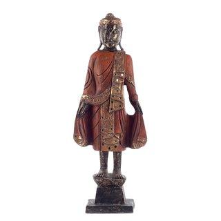 Thai Style Buddha in Saffron For Sale