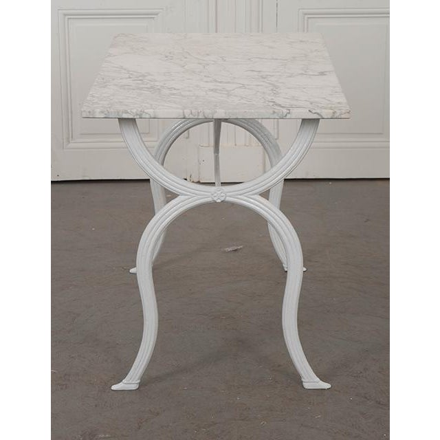French 19th Century White Marble-Top Bistro Table For Sale - Image 9 of 13