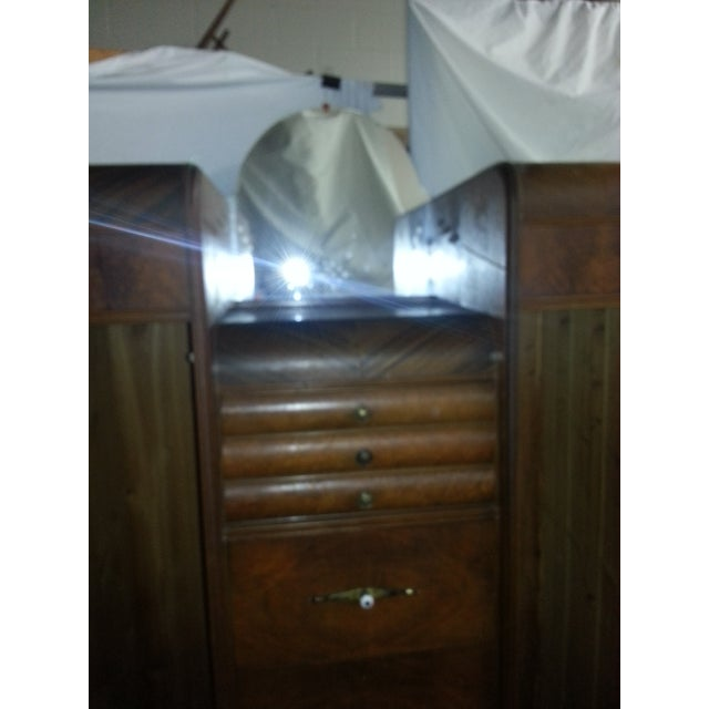 1930's Art Deco Waterfall Armoire - Image 5 of 8