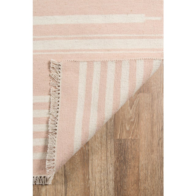 """2010s Erin Gates by Momeni Thompson Billings Pink Hand Woven Wool Area Rug - 3'6"""" X 5'6"""" For Sale - Image 5 of 7"""