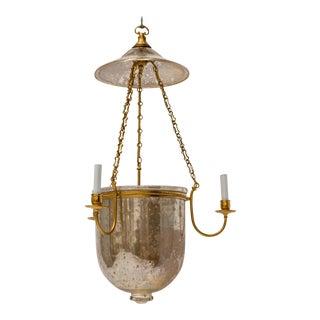 Mercury Glass Bell Jar Hurricane Lantern For Sale