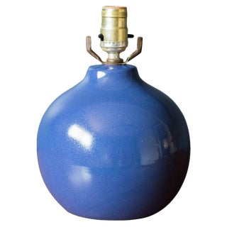 Mid-Century Modern Blue Martz Pottery Lamp For Sale