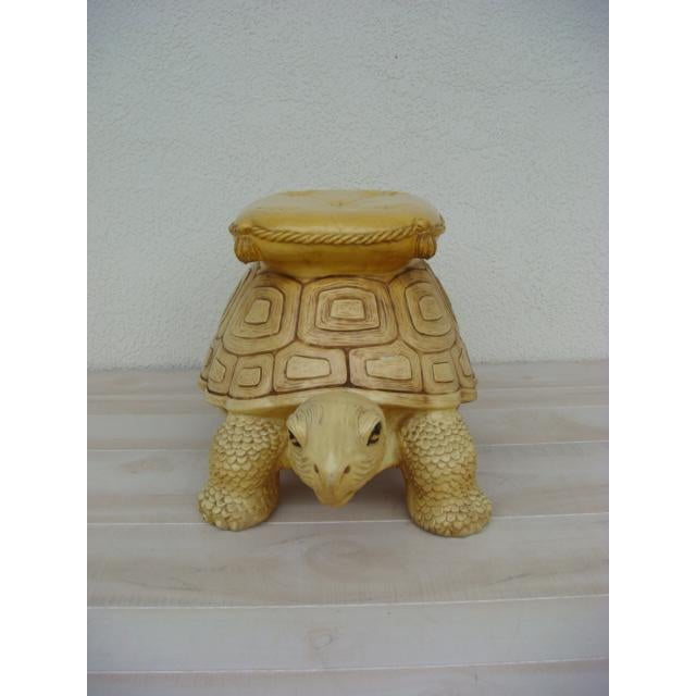 This finely detailed turtle/ tortoise stool is made of either ceramic or high quality plaster. This stool would make a...