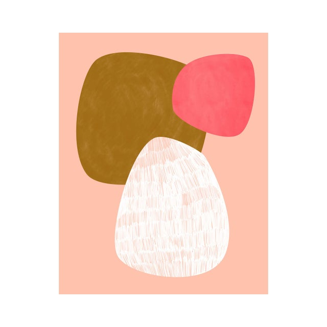 Abstract Pink Shapes Contemporary Giclée Print For Sale - Image 3 of 3