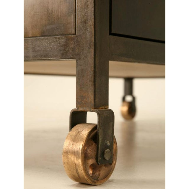 Industrial Steel Vanity Base or Commode For Sale - Image 4 of 9