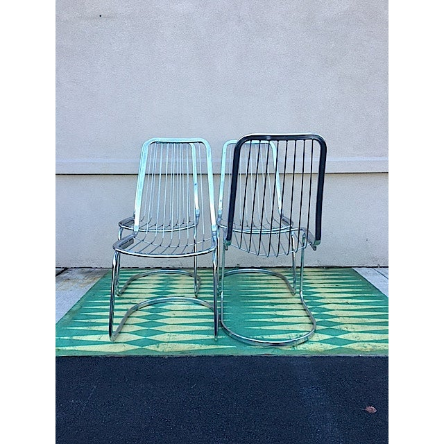 Cidue Vincenca Chrome Wire Chairs - Set of 4 For Sale - Image 4 of 5