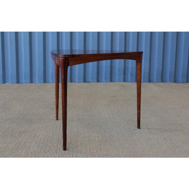 Danish Rosewood Table, 1960s For Sale In Los Angeles - Image 6 of 10