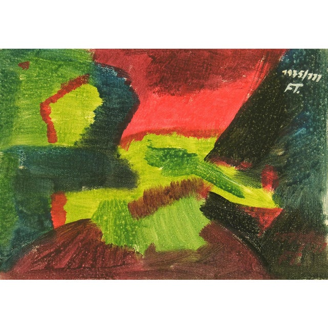 Vintage 1975 Original Abstract Painting For Sale