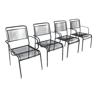 Mid-Century Garden Metal Armchairs