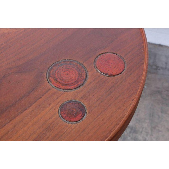 Dunbar Janus Table by Edward Wormley With Natzler Tiles For Sale - Image 9 of 12