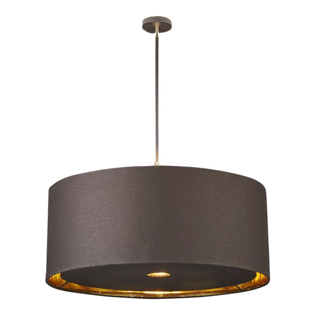 Balance Brown/Polished Brass Extra Large Pendant For Sale