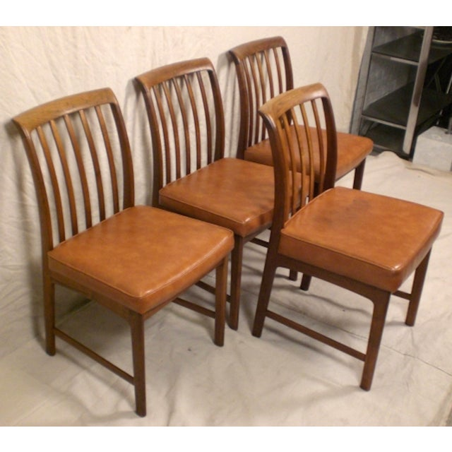 Wood DUX Danish Modern Chairs - Set of 4 For Sale - Image 7 of 7